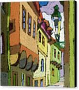 Chesky Krumlov Street Nove Mesto Canvas Print