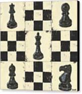 Chess Pieces Canvas Print by Debbie DeWitt