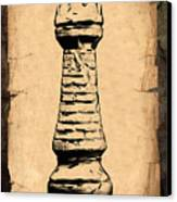 Chess Rook Canvas Print by Tom Mc Nemar