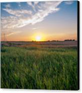 Chestermere Sunset Canvas Print by Adnan Bhatti