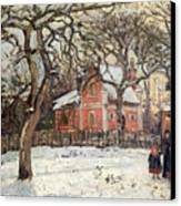 Chestnut Trees At Louveciennes Canvas Print by Camille Pissarro