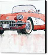 Chevrolet Corvette C1 1960  Canvas Print
