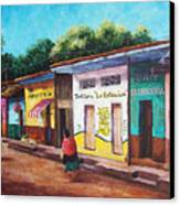 Chiapas Neighborhood Canvas Print by Candy Mayer