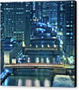 Chicago Bridges Canvas Print by Steve Gadomski