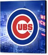 Chicago Cubs Baseball Canvas Print