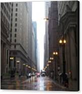 Chicago In The Rain 2 Canvas Print
