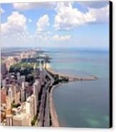 Chicago Lake Canvas Print by Luiz Felipe Castro