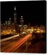 Chicago Night Skyline Canvas Print