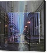 Chicago Rainy Street Expanded Canvas Print by Anita Burgermeister