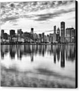 Chicago Reflection Canvas Print by Donald Schwartz