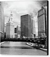 Chicago River Buildings Skyline Canvas Print by Paul Velgos