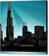 Chicago Skyline Canvas Print by Sandra Hoefer