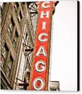Chicago Theater Sign Marquee Canvas Print by Paul Velgos