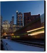 Chicago Train Blur Canvas Print
