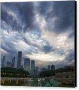 Chicago's Buckingham Fountain When It's Turned Off Canvas Print by Sven Brogren