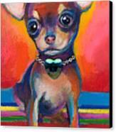 Chihuahua Dog Portrait Canvas Print