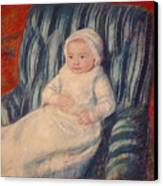Child On A Sofa Canvas Print by Mary Cassatt