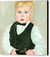 Child With A Toy Canvas Print by Ethel Vrana