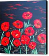 Childlike Poppies Canvas Print by Alanna Hug-McAnnally