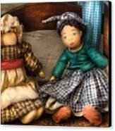 Children - Toys -  Dolls Americana  Canvas Print by Mike Savad