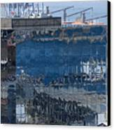 Chile Harbor Reflections Canvas Print