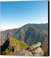 Chimney Tops Vista In Great Smoky Mountain National Park Tennessee Canvas Print by Brendan Reals