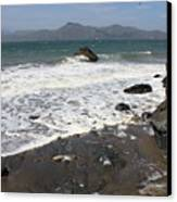 China Beach With Outgoing Wave Canvas Print by Carol Groenen