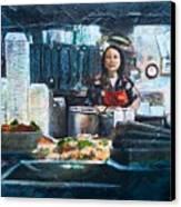 China Kitchen Canvas Print
