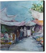 China Market Place Canvas Print by Dorothy Herron