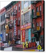 China Town Buildings Canvas Print