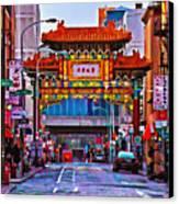 Chinatown Arch Philadelphia Canvas Print by Bill Cannon