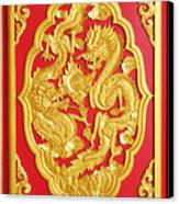 Chinese Design Canvas Print by Somchai Suppalertporn