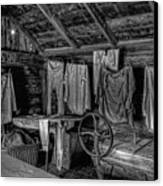 Chinese Laundry In Montana Territory Canvas Print by Daniel Hagerman