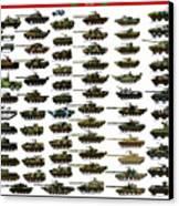 Chinese Pla Tanks Canvas Print