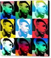 Chris Brown Warhol By Gbs Canvas Print by Anibal Diaz
