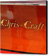 Chris Craft Logo Canvas Print by Michelle Calkins