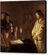 Christ Before The High Priest Canvas Print