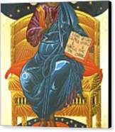 Christ Enthroned Icon  Canvas Print