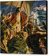 Christ On The Sea Of Galilee Canvas Print by Jack Hayes