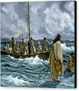 Christ Walking On The Sea Of Galilee Canvas Print by Anonymous