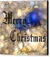 Christmas Card Design Merry Christmas Canvas Print by Karen Musick