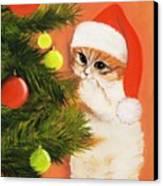 Christmas Kitty Canvas Print by Anastasiya Malakhova