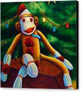 Christmas Made Of Sockies Canvas Print