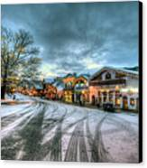 Christmas On Main Street Canvas Print by Brad Granger