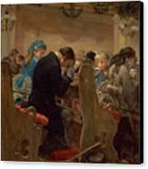Christmas Prayers Canvas Print by Henry Bacon