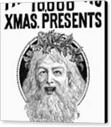 Christmas Present Ad, 1890 Canvas Print by Granger