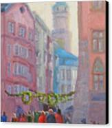 Christmas Shopping - Innsbruck Canvas Print