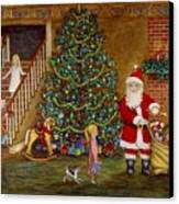 Christmas Visitor Canvas Print by Linda Mears
