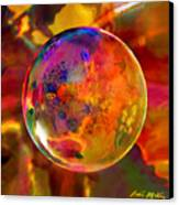 Chromatic Floral Sphere Canvas Print