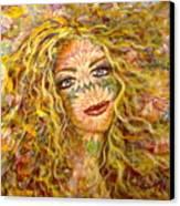 Chrysanthemum Girl Canvas Print